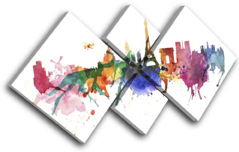 Paris Watercolour Abstract City - 13-6003(00B)-MP19-LO